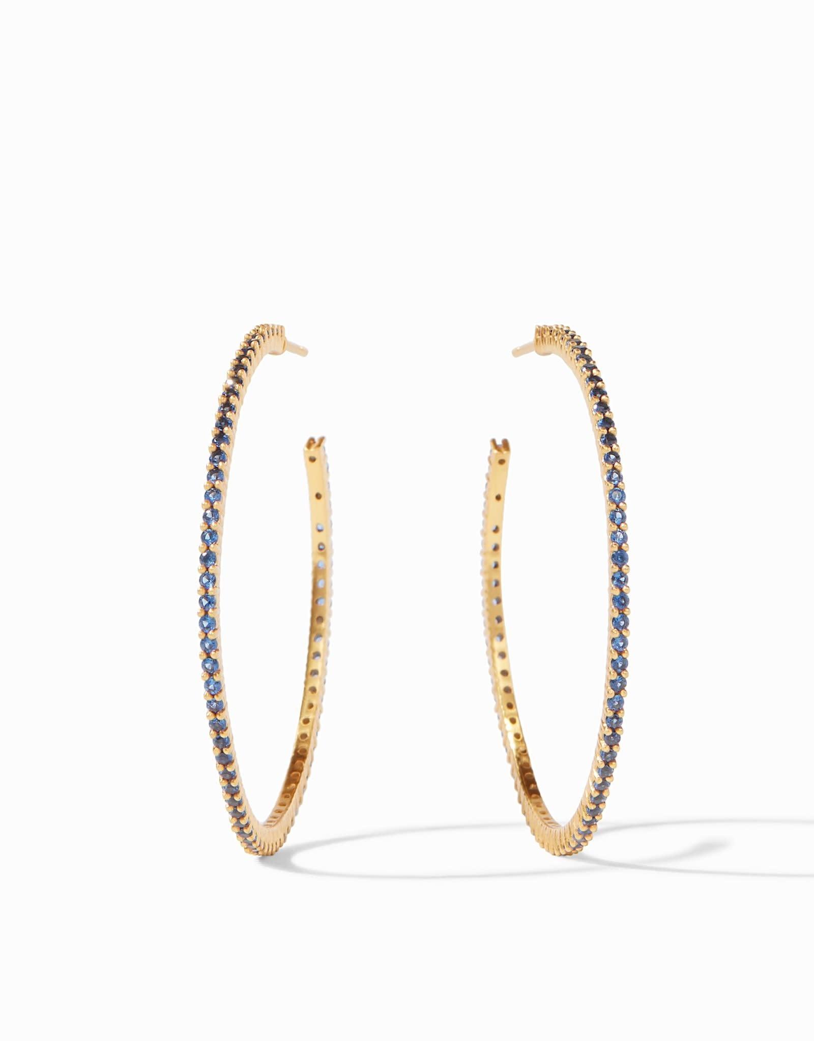 Julie Vos Paris Hoop Gold Sapphier Blue - Medium
