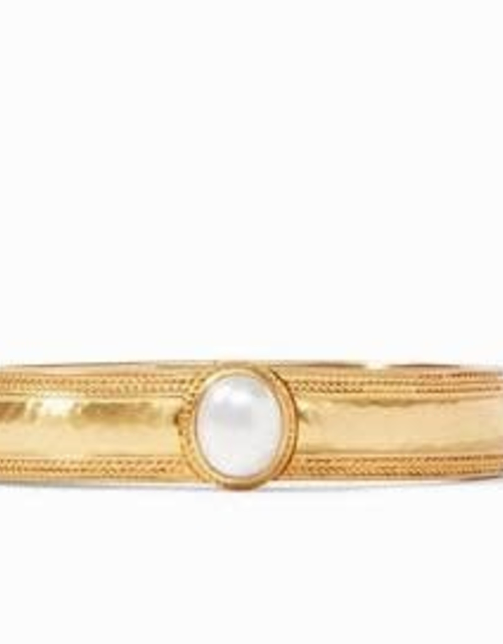 Julie Vos Coin Hinge Bangle Gold Pearl - One Size