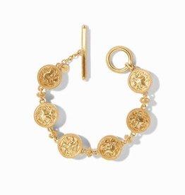 Julie Vos Coin Bracelet Gold CZ