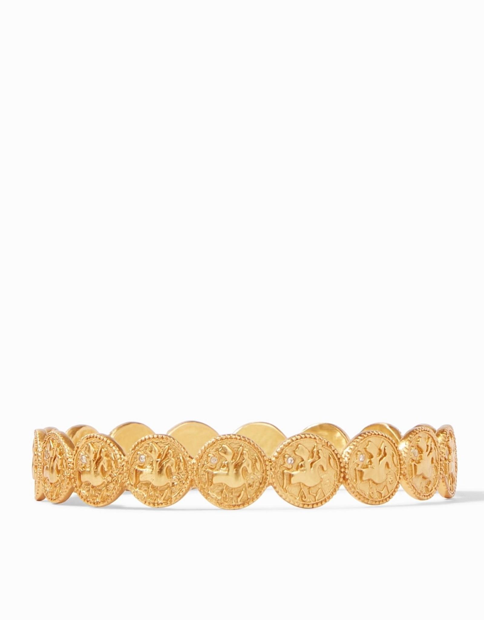 Julie Vos Coin Bangle Gold CZ - Medium