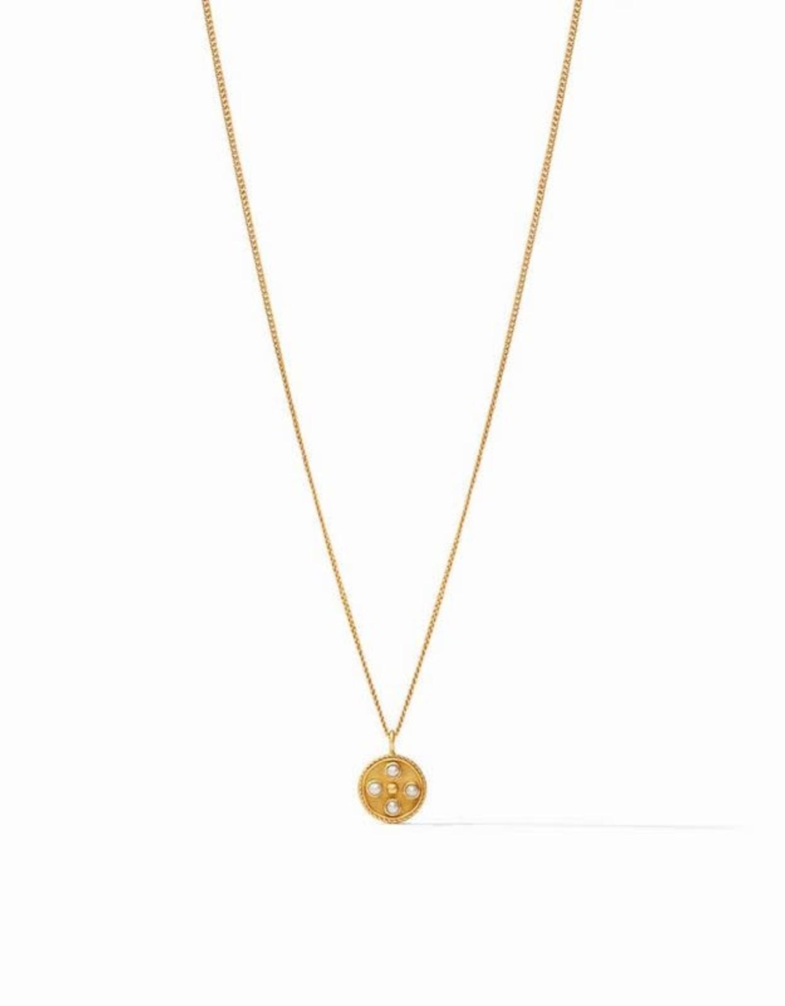 Julie Vos Paris Charm Necklace Gold Pearl