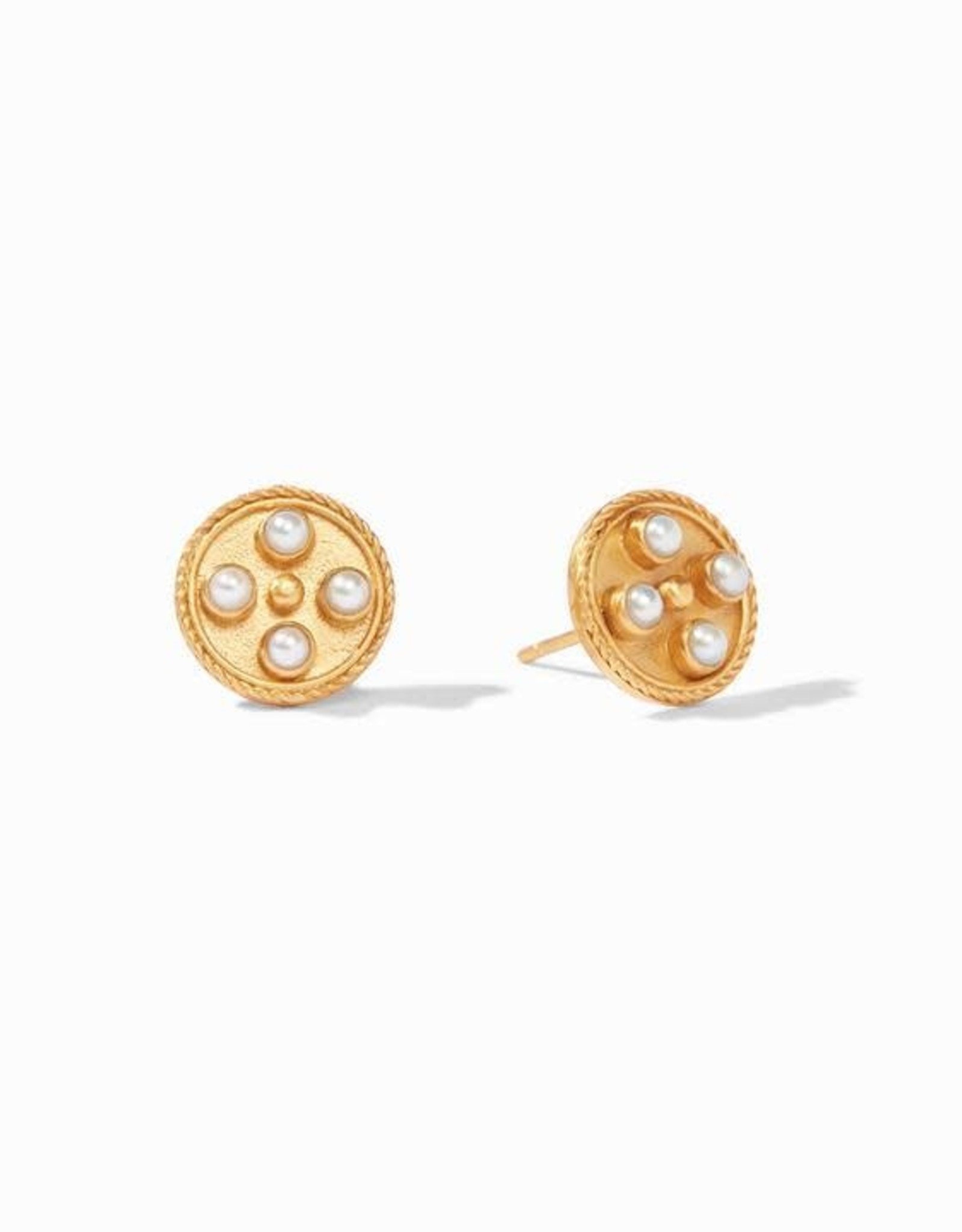 Julie Vos Paris Stud Gold Fresh Water Pearl