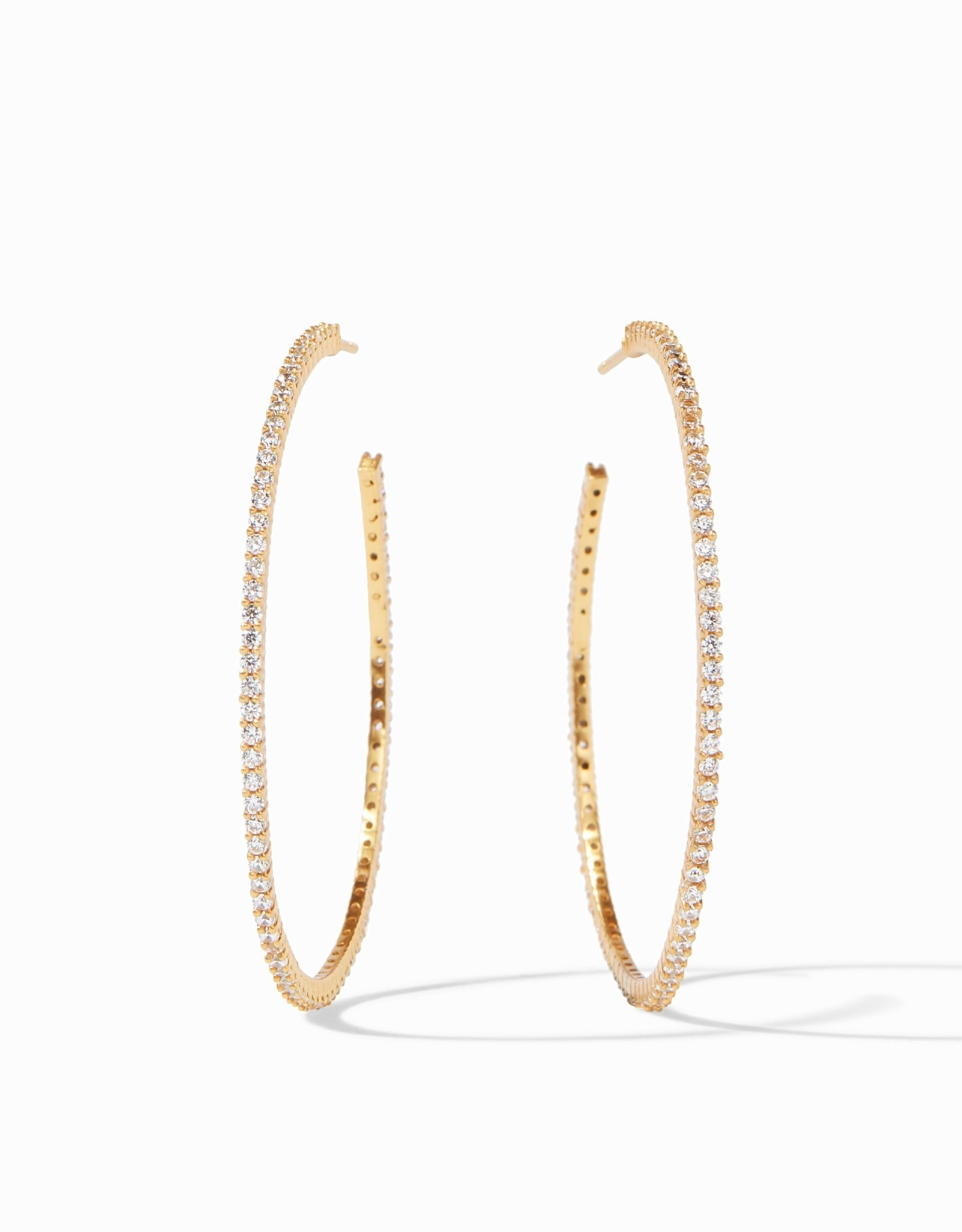 Julie Vos Paris Hoop Gold CZ- Medium