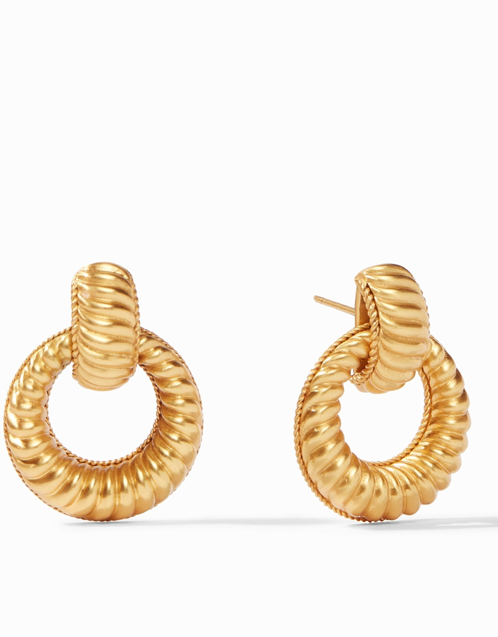 Julie Vos Olympia Doorknocker Earring Gold