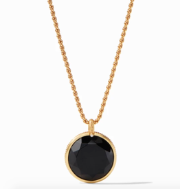 Julie Vos Coin Statement Pendant in Gold Black Onyx