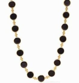 Julie Vos Coin Double Sided Necklace Gold Black Onyx
