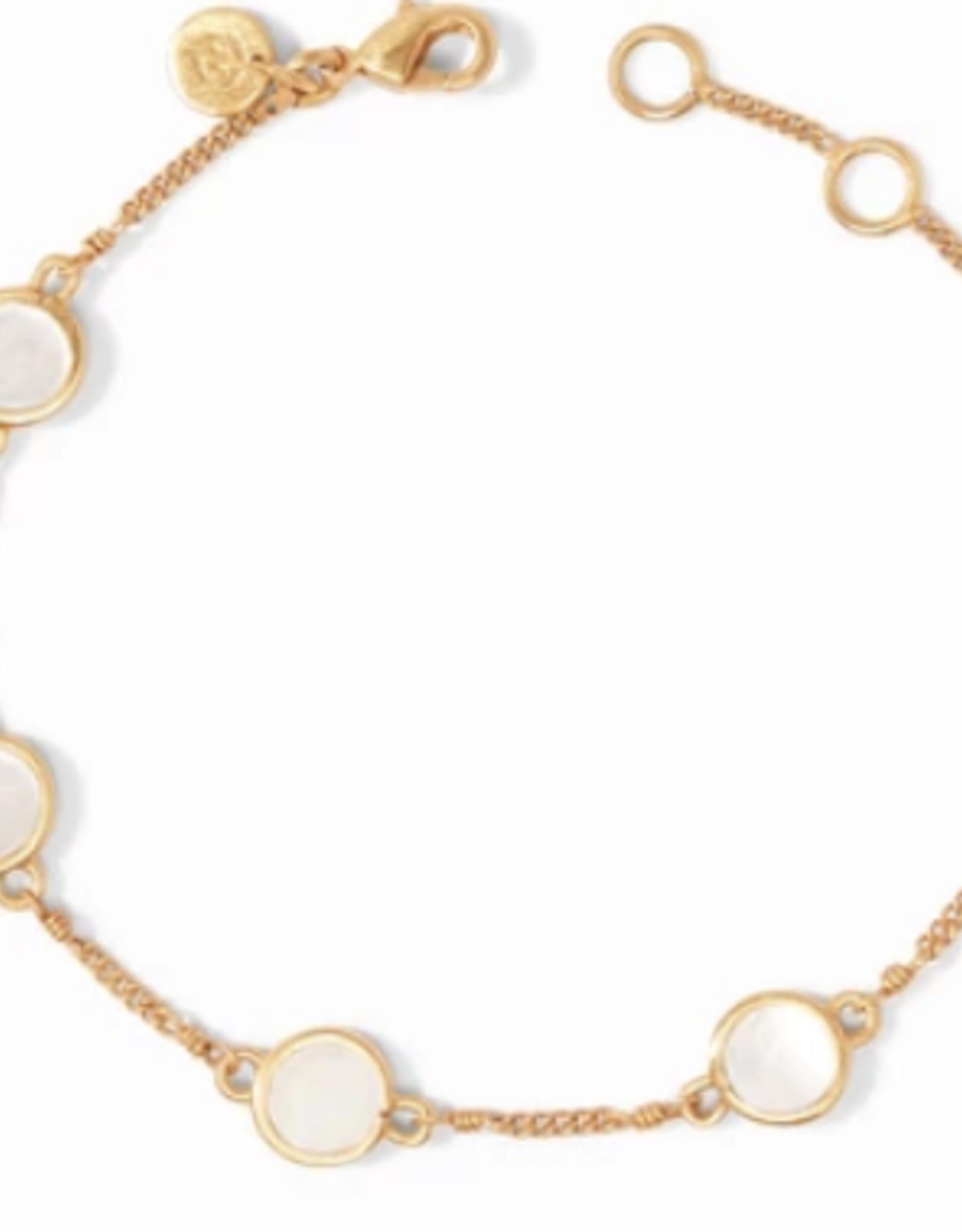 Julie Vos Valencia Delicate Bracelet Gold Mother of Pearl
