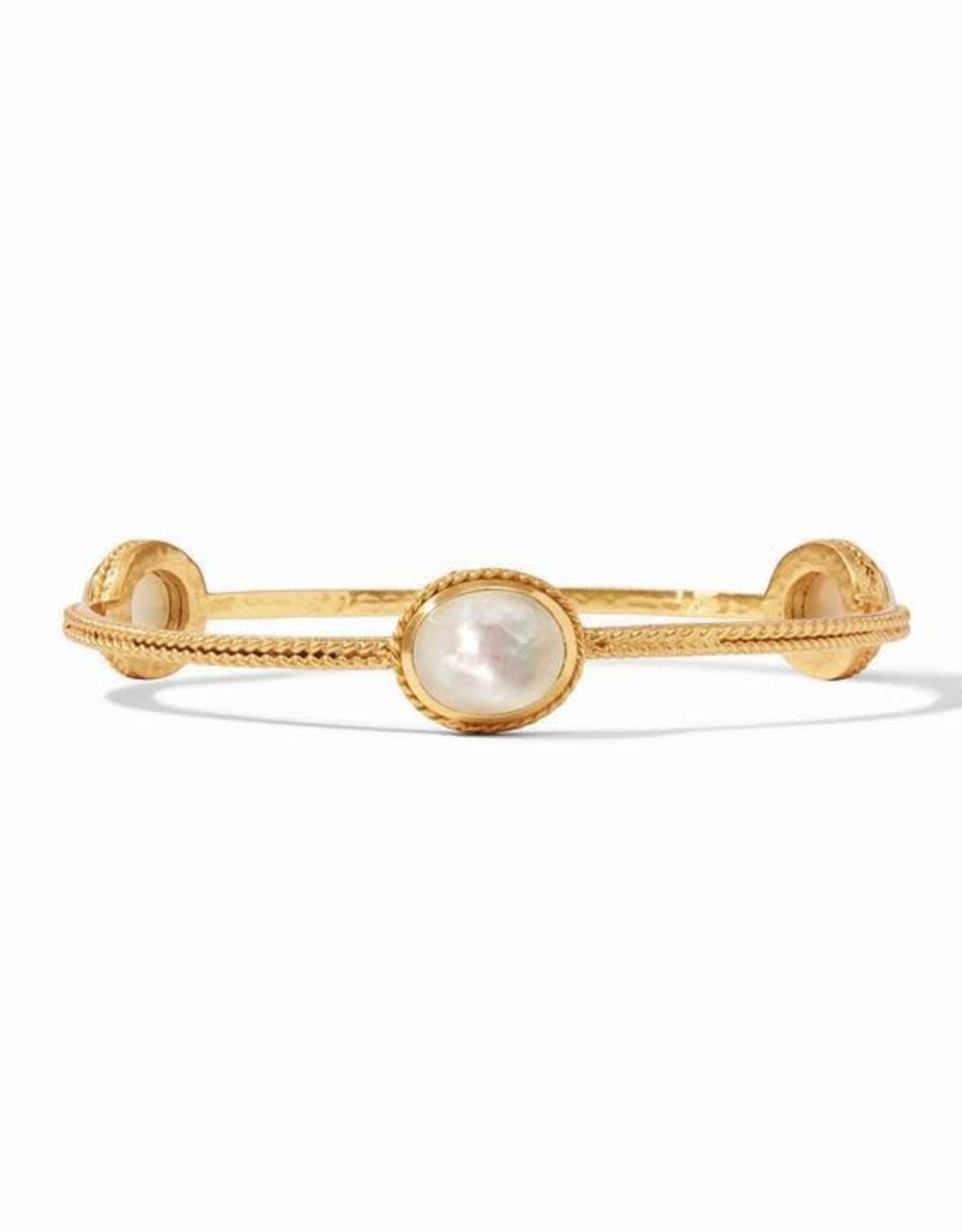 Julie Vos Calypso Bangle Gold Pearl Medium