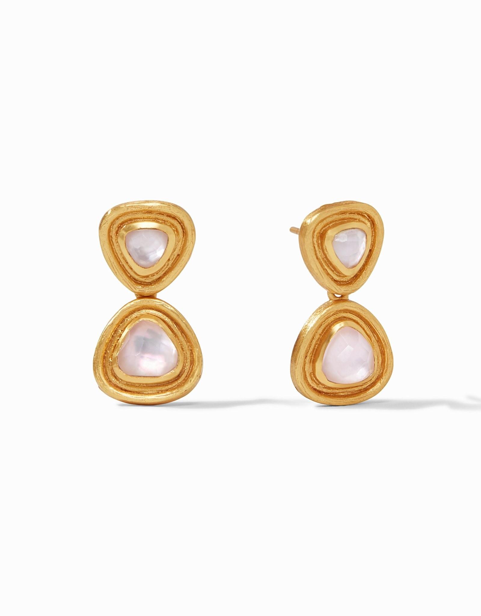 Julie Vos Barcelona Midi Earring Gold Iridescent Rose