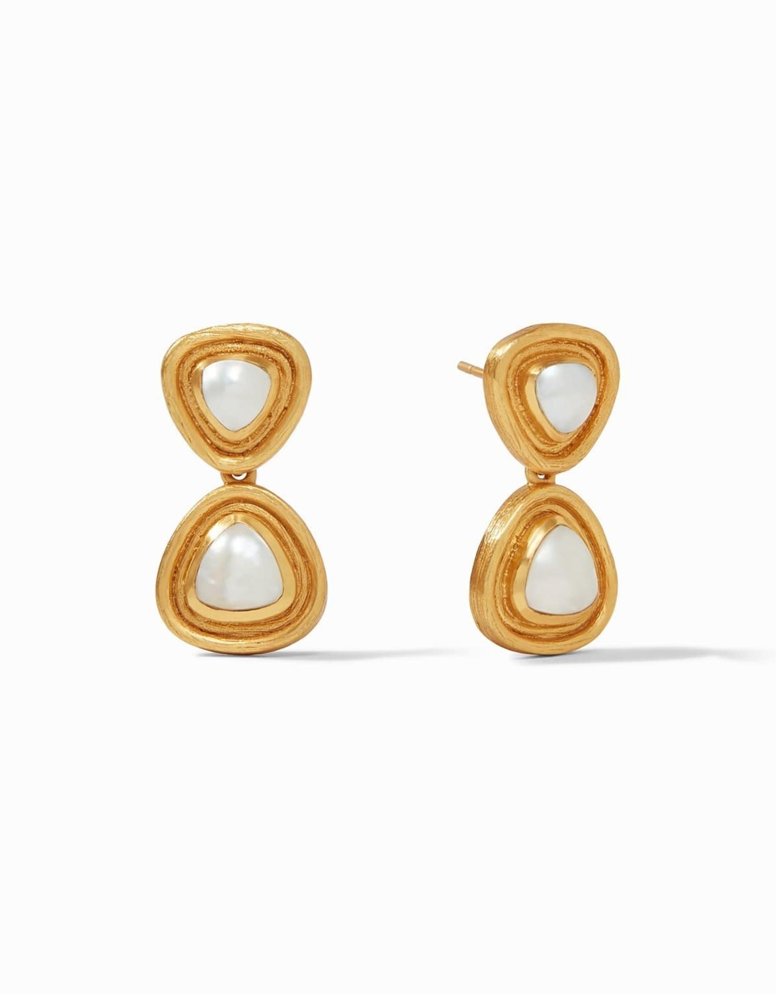 Julie Vos Barcelona Midi Earring Gold Pearl