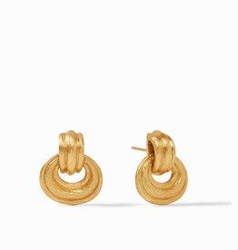 Julie Vos Barcelona Doorknocker Earring Gold