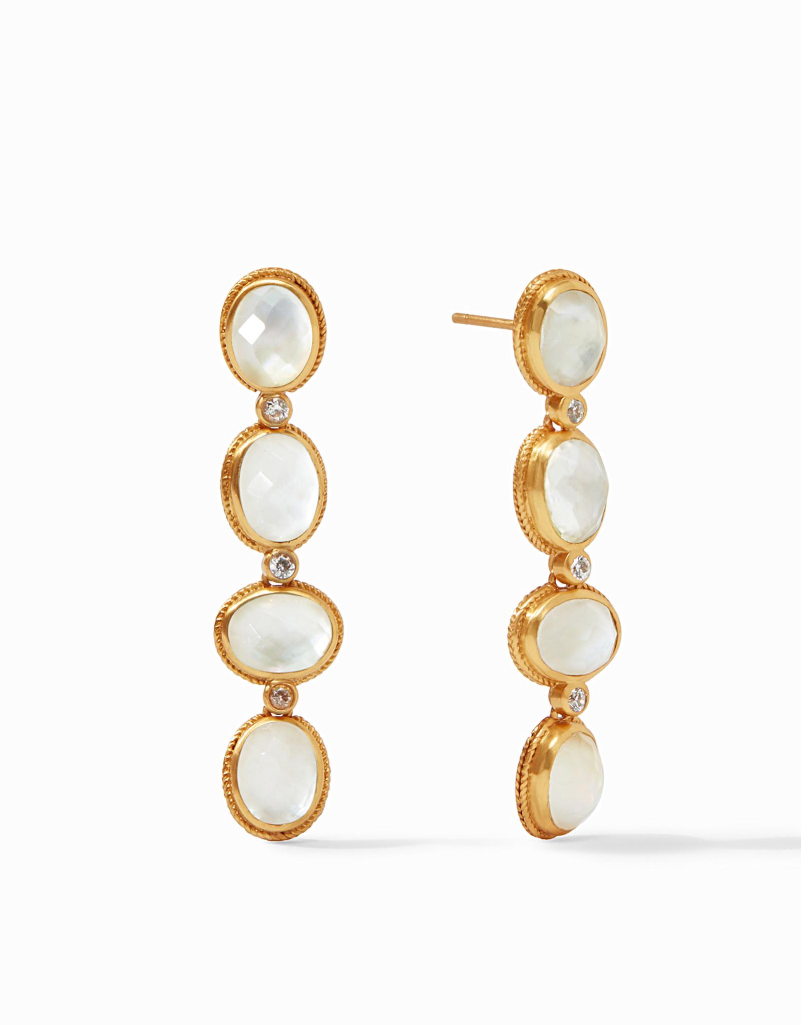 Julie Vos Calypso Statement Earring Gold Iridescent