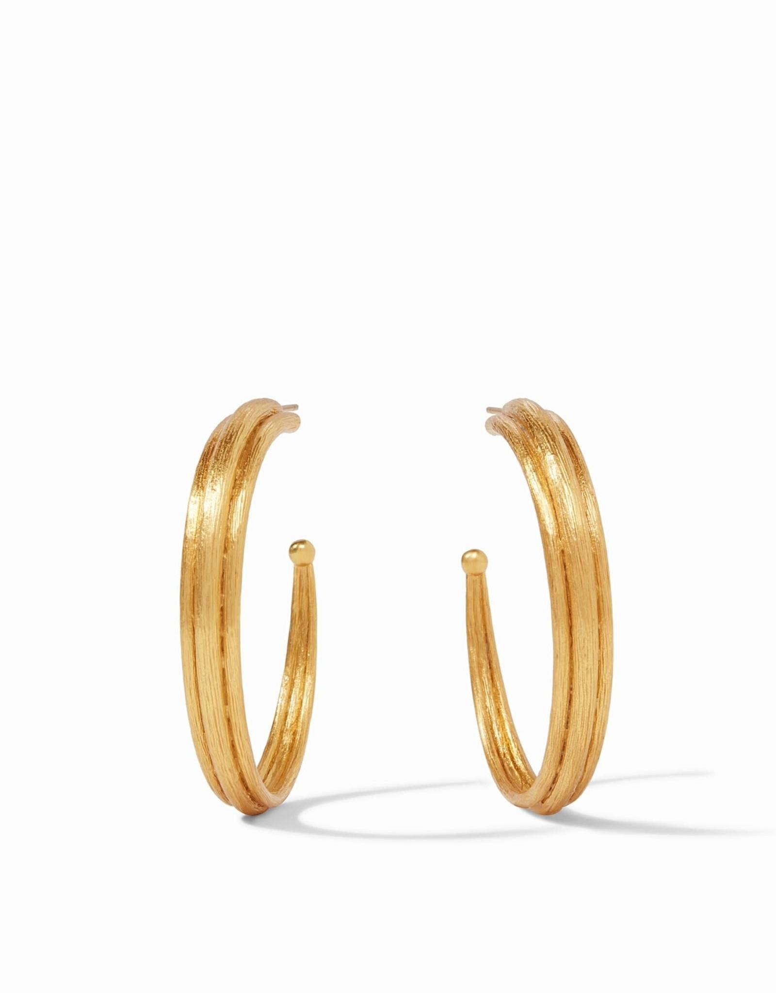 """Julie Vos Barcelona Hoop Gold Medium - 1.25"""""""