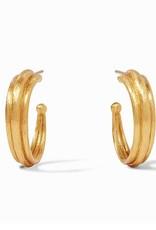 """Julie Vos Barcelona Gold Hoop Small - 1"""""""