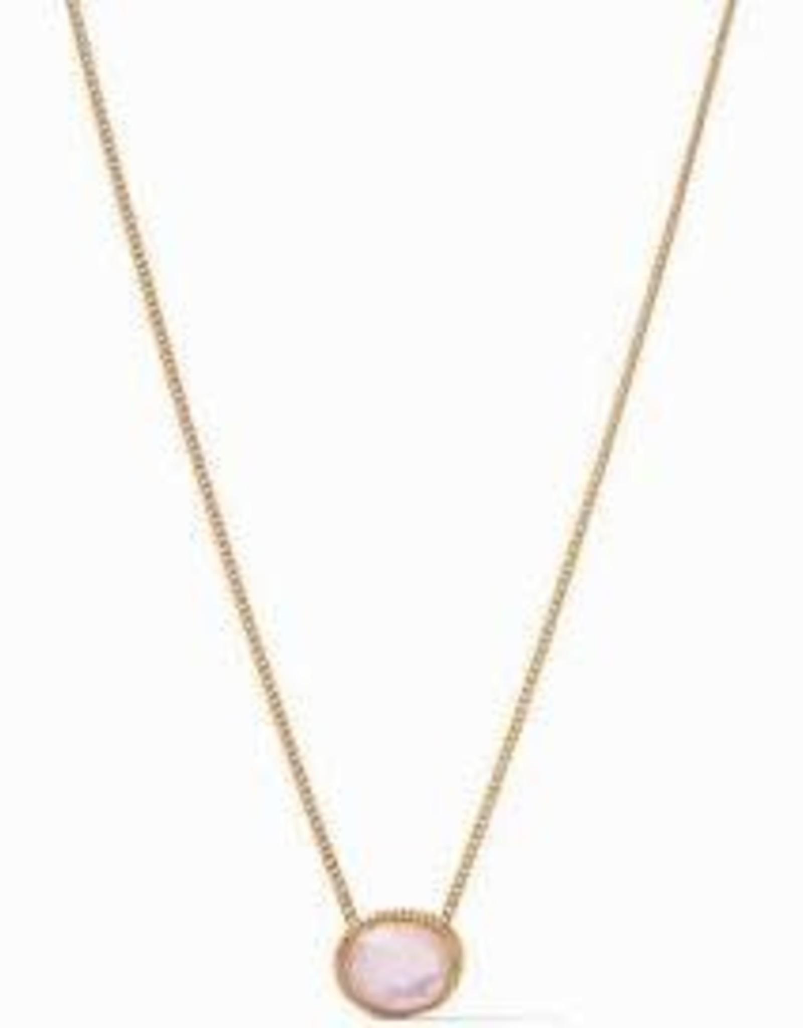 Julie Vos Verona Statement Necklace Gold Iridescent Rose