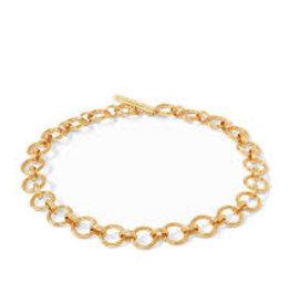 """Julie Vos Barcelona Demi Link Necklace Gold 19"""""""