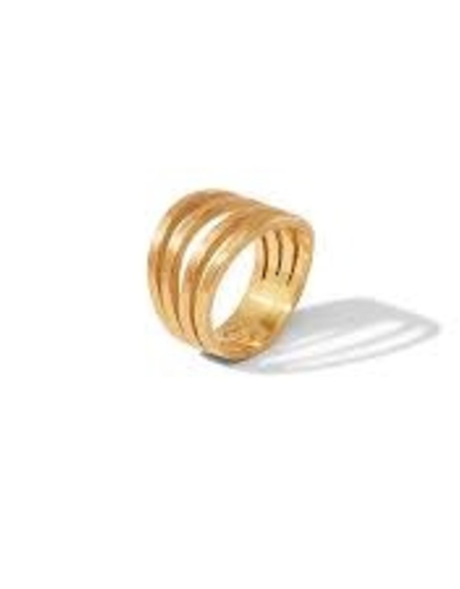 Julie Vos Aspen Ring Gold - Size 8