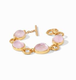 Julie Vos Barcelona Bracelet Gold Iridescent Rose