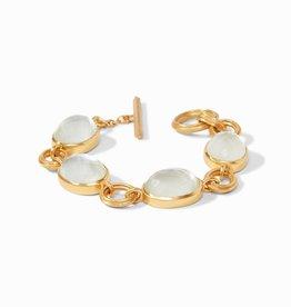 Julie Vos Barcelona Bracelet Gold Iridescent Clear Crystal