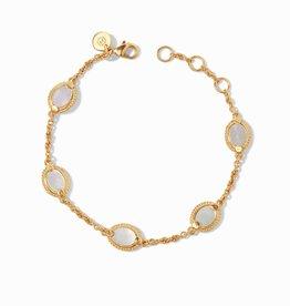 Julie Vos Calypso Delicate Bracelet Gold Mother of Pearl