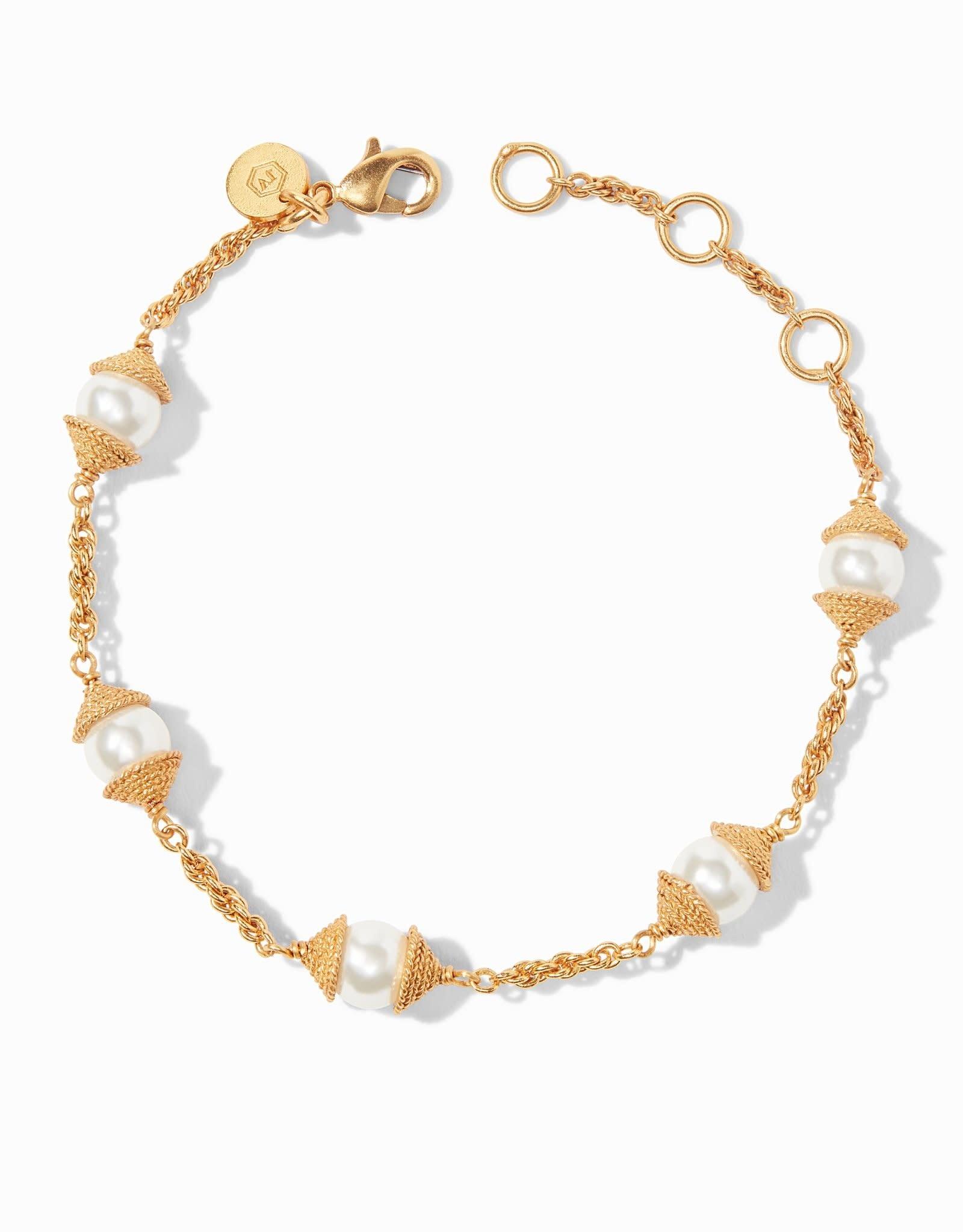 Julie Vos Calypso Pearl Delicate Bracelet Gold