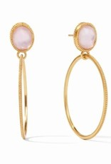 Julie Vos Verona Statement Earring Gold Iridescent Rose