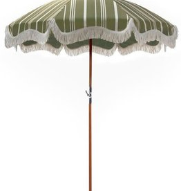 Home Premium Beach Umbrella - Vintage Green Stripe