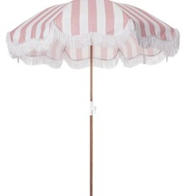 Home Holiday Beach Umbrella - Dusty Stripe Pink