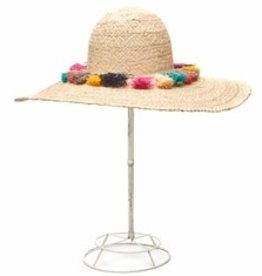 Gifts Paloma Sun Hat with Colorful Tassels in Natural