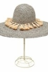 Gifts Paloma Sun Hat with Natural Tassesl in Dove