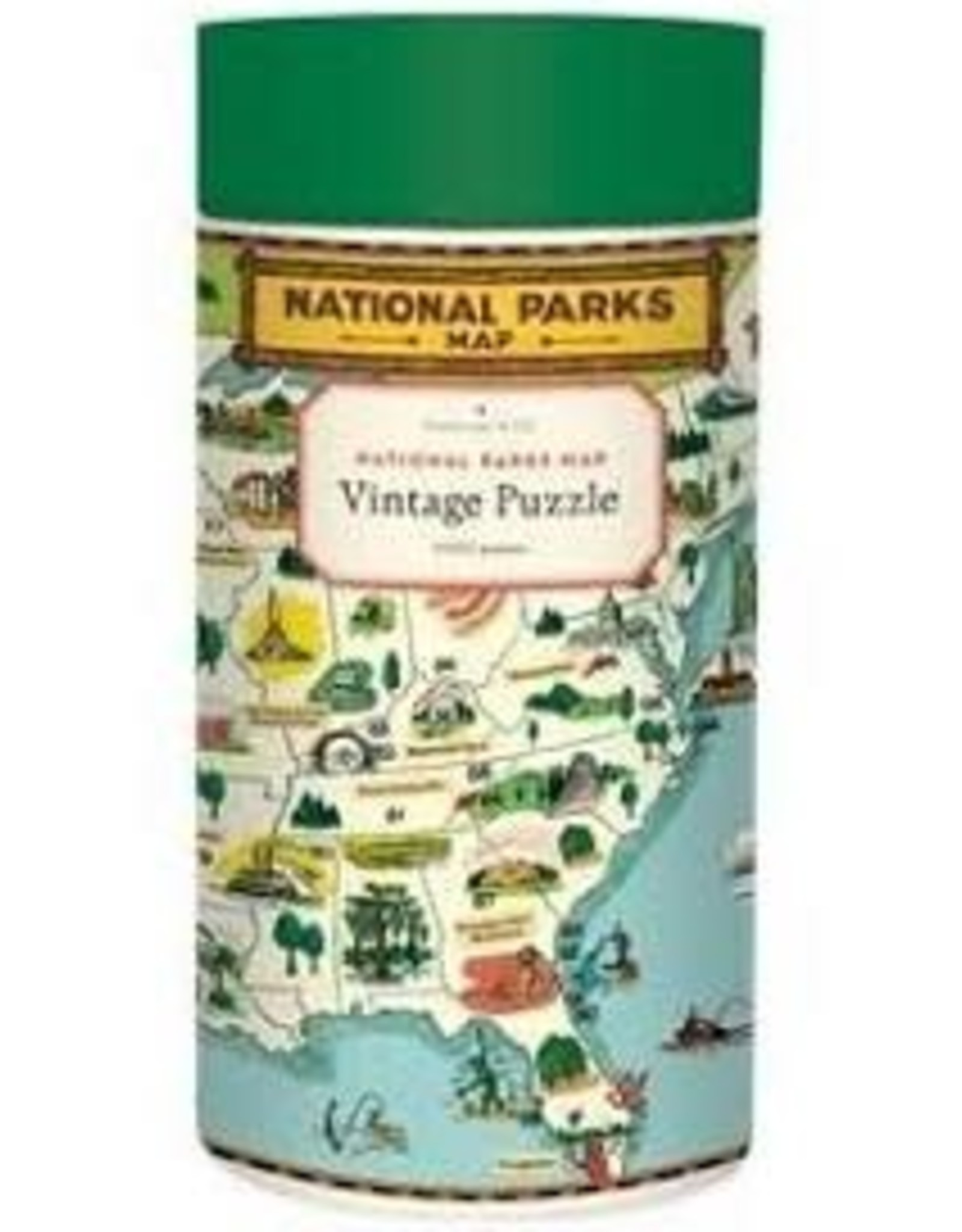 Cavallini National Parks Map 1000 Piece Puzzle