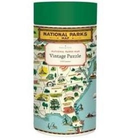 Cavallini National Parks Map 1000 Piece Puzzle
