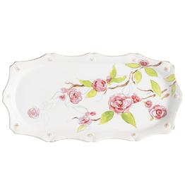 Juliska Berry & Thread Floral Sketch Camellia Hostess Tray