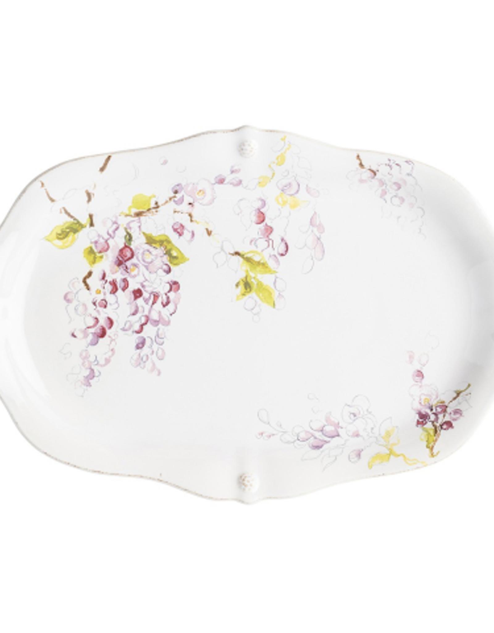 "Juliska Berry & Thread Floral Sketch Wisteria 16"" Platter"
