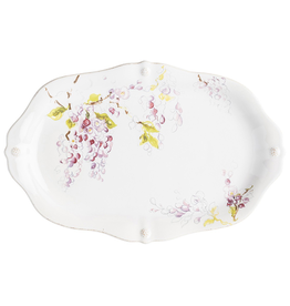 "Juliska Berry & Thread Floral Sketch Wisteria 16"" Platter"