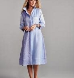 Claridge & King Color Block Linen Dress