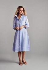 Claridge & King Color Block Linen Dress