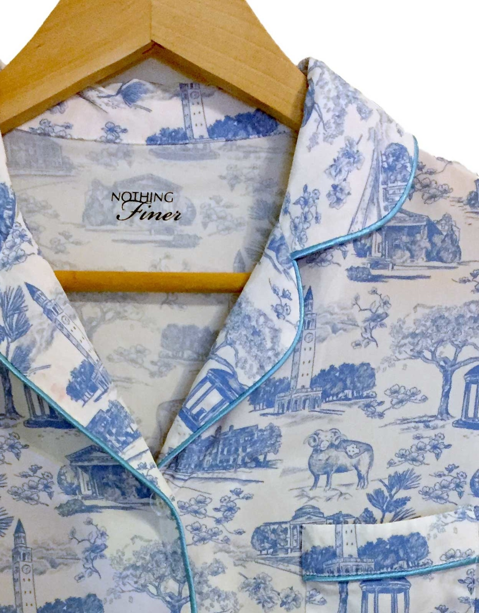 Nothing Finer Tarheel Toile Short Sleeve/Long Pants Pajama Set