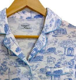 Nothing Finer Tarheel Toile Short Sleeve/Long Pants Pajama Set