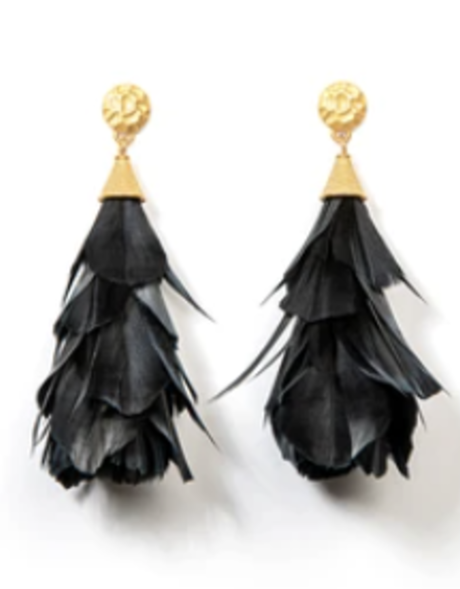 Brackish Parades with Gold Nugget Earrings - Goose Feathers