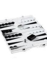 Tizo Design Acrylic Black/White Backgammon Set