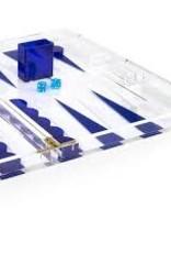 Tizo Design Acrylic Blue Backgammon Set