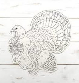 Hester & Cook Die-Cut Coloring Turkey Placemat - Set of 12