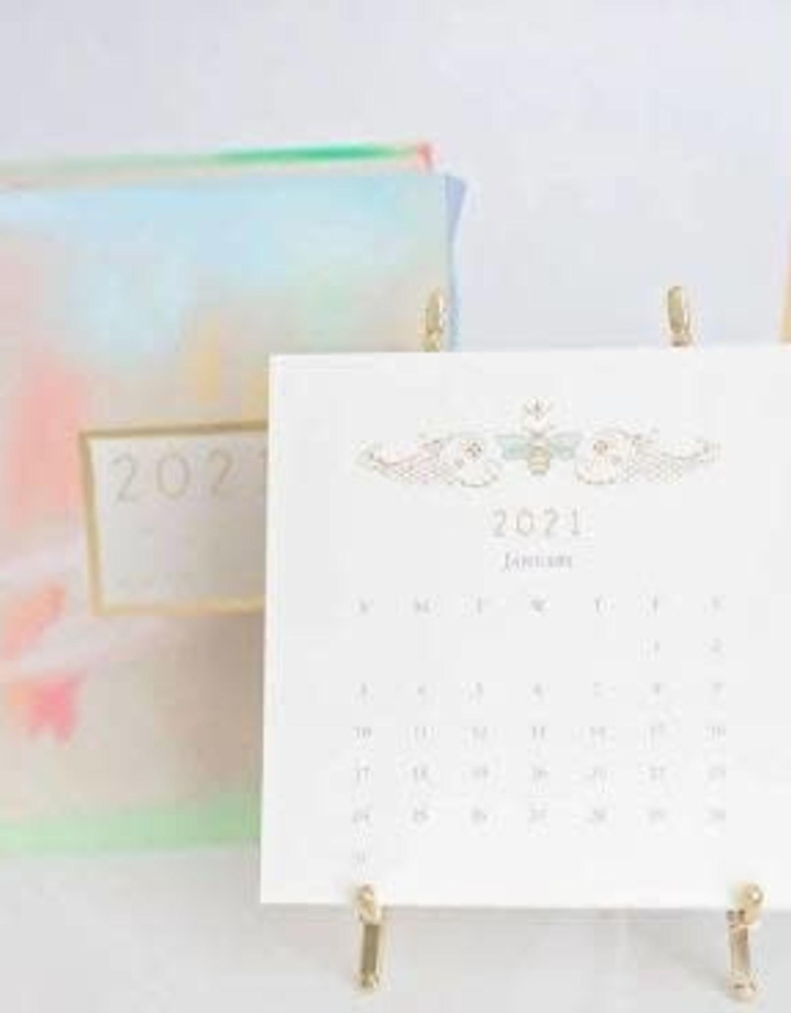 Karen Adams Designs 2021 Karen Adams Gold Desk Calendar