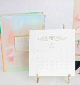Karen Adams Designs 2021 Karen Adams Gold Desk Calendar