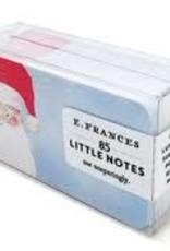 E. Frances Paper Santa Little Notes