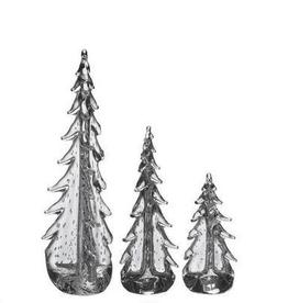 "Simon Pearce Vermont Bubble Evergreen in a Gift Box - 8"""