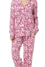 The Cat's Pajamas Queen Anne Pima Knit Pajamas