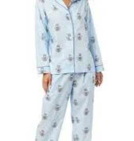 Gifts Queen Bee Pima Knit Long- Sleeved Pajamas