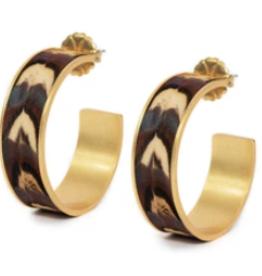 Brackish Whitney Earrings - Pheasant Feathers